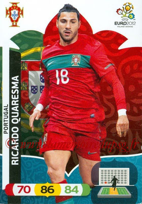 Panini Euro 2012 Cards Adrenalyn XL - N° 171 - Ricardo QUARESMA (Portugal)