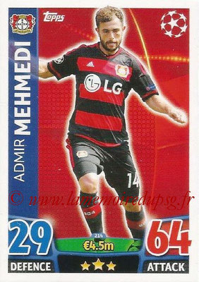 2015-16 - Topps UEFA Champions League Match Attax - N° 214 - Admir MEHMEDI (Bayer 04 Leverkusen)