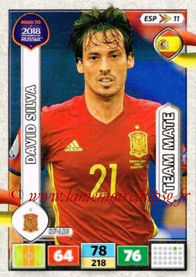 2018 - Panini Road to FIFA World Cup Russia Adrenalyn XL - N° ESP11 - David SILVA (Espagne)