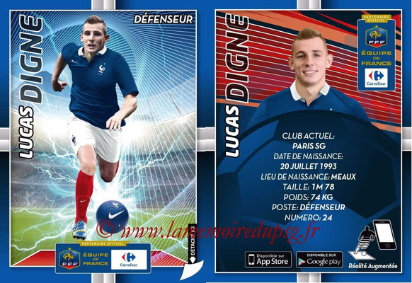 WC 2014 Collection Carrefour 3D Bleus - N° 05 - Lucas DIGNE (Paris SG)