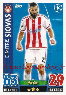 2015-16 - Topps UEFA Champions League Match Attax - N° 096 - Dimitris SIOVAS (Olympiacos FC)
