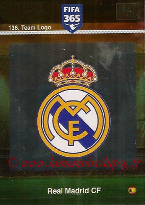2015-16 - Panini Adrenalyn XL FIFA 365 - N° 136 - Ecusson Real Madrid CF (Team Logo)