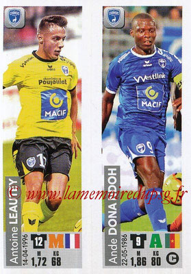 2018-19 - Panini Ligue 1 Stickers - N° 547 - Antoine LEAUTEY + Ande DONA NDOH (Chamois Niortais FC)