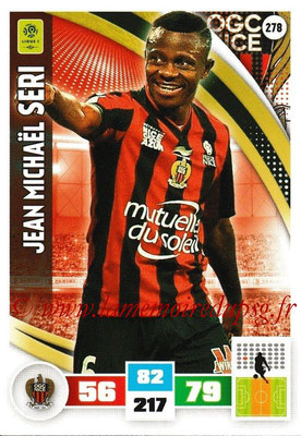 2016-17 - Panini Adrenalyn XL Ligue 1 - N° 278 - Jean Michael SERI (Nice)