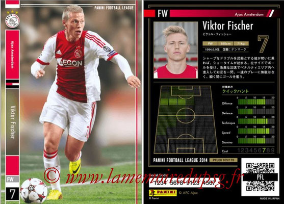 Panini Football League 2014 - PFL08 - N° 105 - Viktor FISCHER (Ajax Amsterdam)
