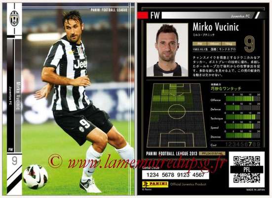 Panini Football League 2013 - PFL04 - N° 015 - Mirko VUCINIC (Juventus FC)
