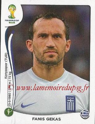 2014 - Panini FIFA World Cup Brazil Stickers - N° 220 - Fanis GEKAS (Grèce)