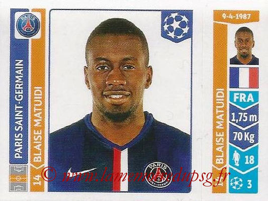 2014-15 - Panini Champions League N° 442 - Blaise MATUIDI (Paris Saint-Germain)