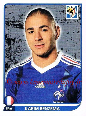 2010 - Panini FIFA World Cup South Africa Stickers - N° 104 - Karim BENZEMA (France)
