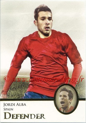 2013 - Futera World Football Unique - N° 010 - Jordi ALBA (Espagne) (Defender)