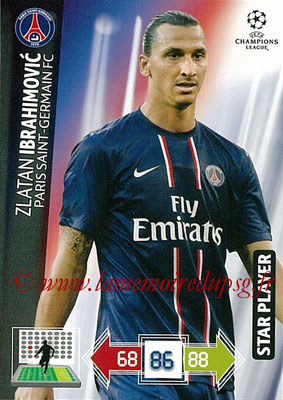 2012-13 - Adrenalyn XL champions League N° 216 - Zlatan IBRAHIMOVIC (Paris Saint-Germain) (Star Player)