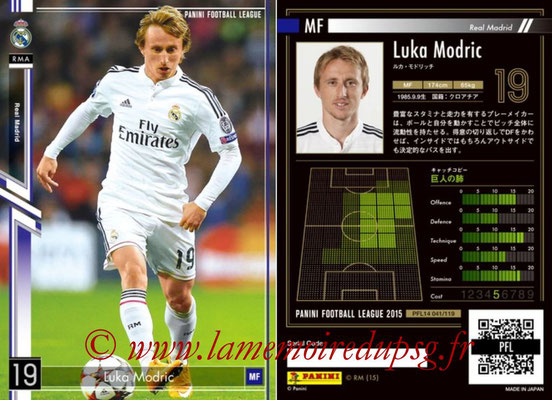 Panini Football League 2015 - PFL14 - N° 041 - Luka MODRIC (Real Madrid CF)