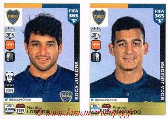 2015-16 - Panini FIFA 365 Stickers - N° 095-096 - Nicolas LODEIRO + Franco CRISTALDO (CA Boca Juniors)