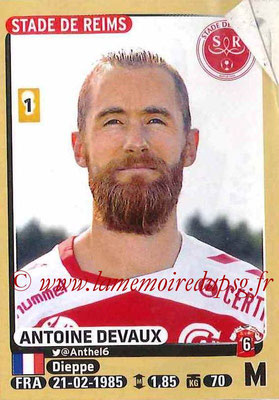2015-16 - Panini Ligue 1 Stickers - N° 373 - Antoine DEVAUX (Stade de Reims)