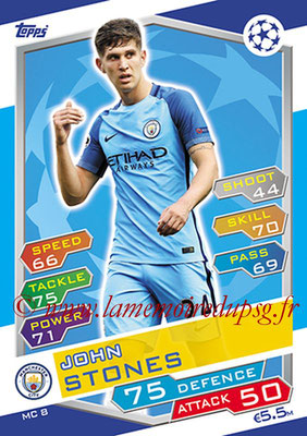 2016-17 - Topps UEFA Champions League Match Attax - N° MC8 - John STONES (Manchester City FC)