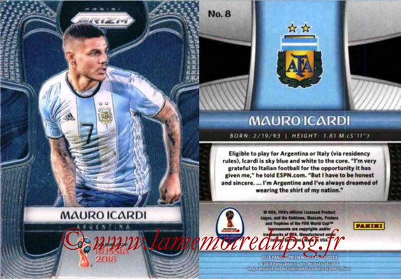 2018 - Panini Prizm FIFA World Cup Russia - N° 008 - Mauro ICARDI (Argentine)