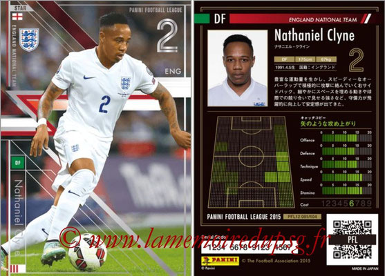 Panini Football League 2015 - PFL12 - N° 081 - Nathaniel CLYNE (Angleterre) (Star)