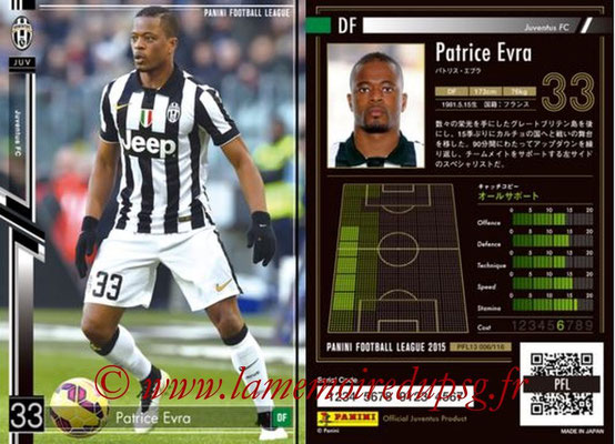 Panini Football League 2015 - PFL13 - N° 006 - Patrice EVRA (Juventus FC)