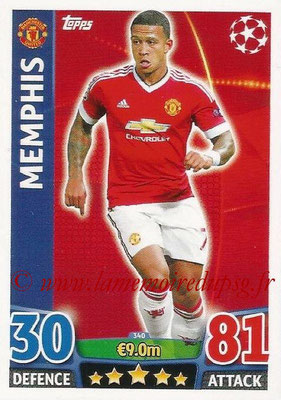 2015-16 - Topps UEFA Champions League Match Attax - N° 340 - MEMPHIS (Manchester United)