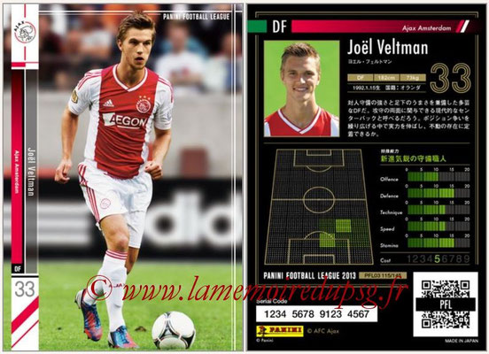 Panini Football League 2013 - PFL03 - N° 115 - Joel Veltman (Ajax Amsterdam)
