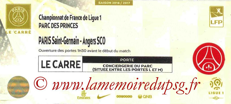 Tickets  PSG-Angers  2016-17