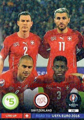 Panini Road to Euro 2016 Cards - N° 232 - Equipe Suisse 1