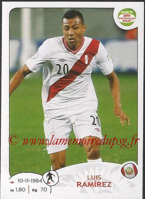 2014 - Panini Road to FIFA World Cup Brazil Stickers - N° 223 - Luis RAMIREZ (Pérou)