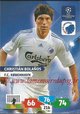 2013-14 - Adrenalyn XL champions League N° 159 - Christian BOLANOS (FC Kobenhavn)