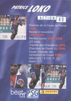 N° 040 - Patrice LOKO (Verso)