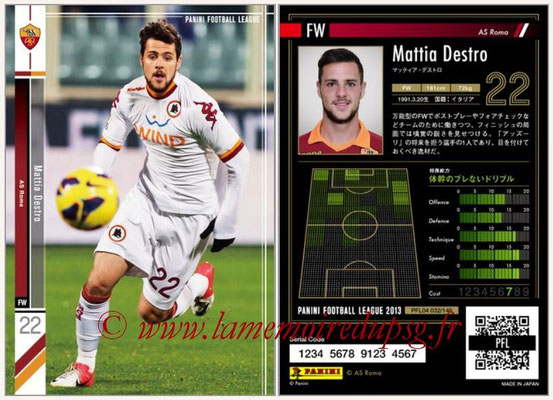 Panini Football League 2013 - PFL04 - N° 032 - Mattia DESTRO (AS Roma)