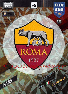 2017-18 - Panini FIFA 365 Cards - N° 226 - Logo AS Roma (Club Badge)