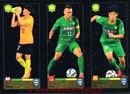 2015-16 - Panini FIFA 365 Stickers - N° 263-264-265 - Zhi YANG + Yunlong XU + Dae-Sung HA (Beijing Guoan FC)