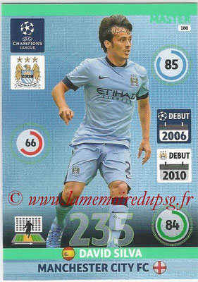 2014-15 - Adrenalyn XL champions League N° 180 - David SILVA (Manchester City FC) (Master)