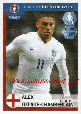 Panini Road to Euro 2016 Stickers - N° 076 - Alex OXLADE-CHAMBERLAIN (Angleterre)