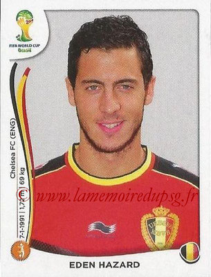 2014 - Panini FIFA World Cup Brazil Stickers - N° 578 - Eden HAZARD (Belgique)