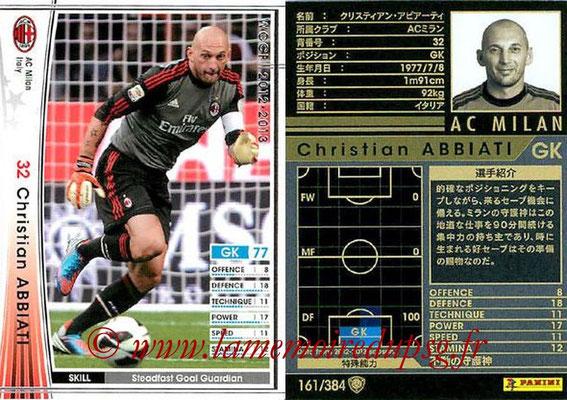 2012-13 - WCCF - N° 161 - Christian ABBIATI (Milan AC)