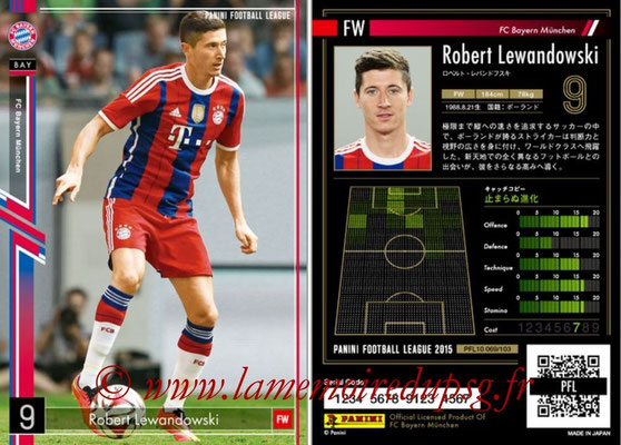 Panini Football League 2015 - PFL10 - N° 069 - Robert LEWANDOWSKI (Bayern Munich)
