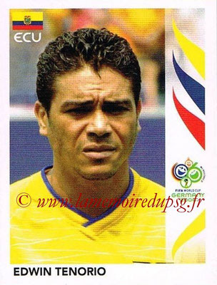 2006 - Panini FIFA World Cup Germany Stickers - N° 087 - Edwin TENORIO (Equateur)