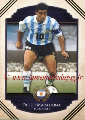 2014 - Futera World Football Unique - N° 111 - Diego MARADONA (The Greats)