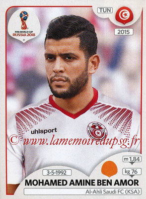 2018 - Panini FIFA World Cup Russia Stickers - N° 563 - Mohamed AMINE BEN AMOR (Tunisie)