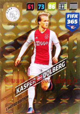 2017-18 - Panini FIFA 365 Cards - N° LE-KD - Kasper DOLBERG (AFC Ajax) (Limited Edition)