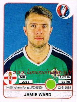 Panini Euro 2016 Stickers - N° 341 - Jamie WARD (Irlande du Nord)