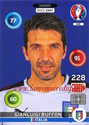Panini Euro 2016 Cards - N° 188 - Gianluigi BUFFON (Italie) (Expert)