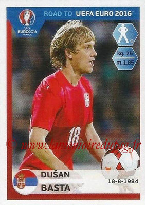 Panini Road to Euro 2016 Stickers - N° 275 - Dusan BASTA (Serbie)