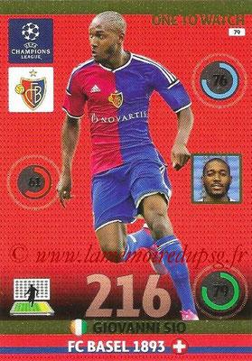 2014-15 - Adrenalyn XL champions League N° 079 - Giovanni SIO (FC Bâle) (One to watch)