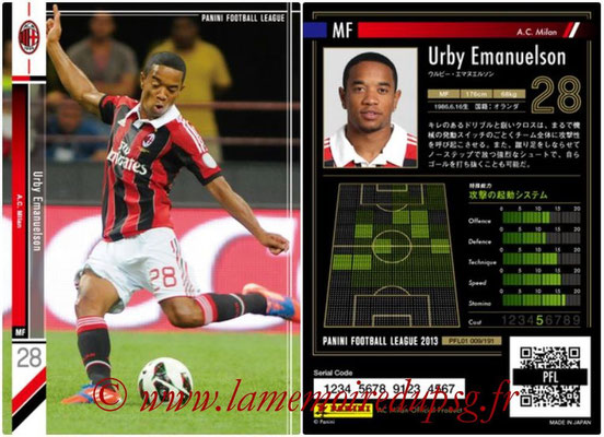 Panini Football League 2013 - PFL01 - N° 009 - Urby Emanuelson ( A.C. Milan )