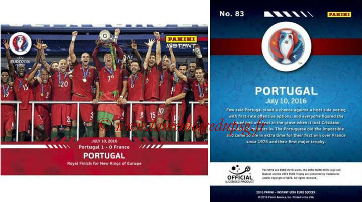 Panini Instant Euro 2016 - N° 083 - Portugal