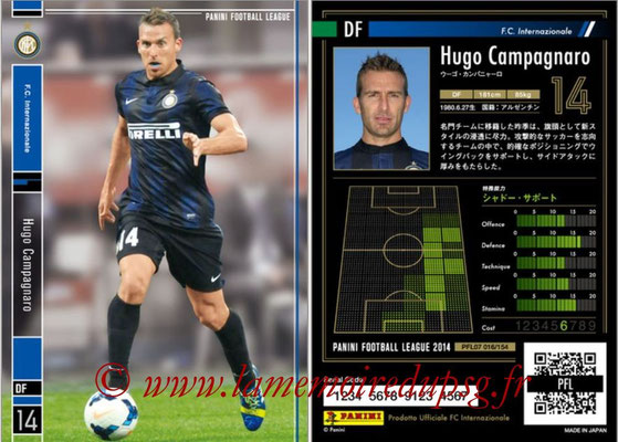 Panini Football League 2014 - PFL07 - N° 016 - Hugo CAMPAGNARO (Inter)