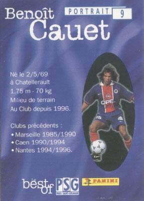 N° 009 - Benoit CAUET (Verso)