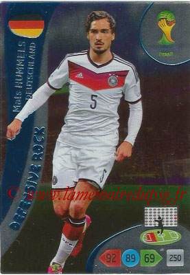 2014 - Panini FIFA World Cup Brazil Adrenalyn XL - N° 367 - Mats HUMMELS (Allemagne) (Defensive Rock)
